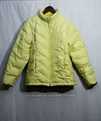 Next, куртка пуховик на пуху теплая зеленая
