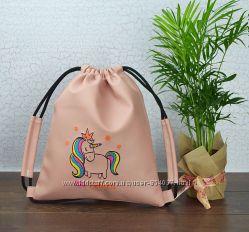 Рюкзак мешок с вышивкой кожзам