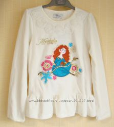 Блузка детская хлопковая белая с вышивкой Disney Store Размер 140 9-10 ле