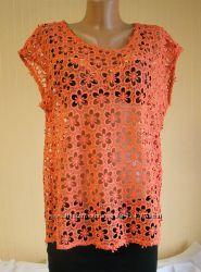 Блузка женская кружевная гипюровая нарядная Next размер 48 M, UK14, EU42