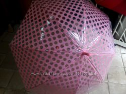 Зонт трость прозрач. в горошек красивый и качественный