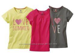 Хлопковая, желтая футболочка &hearts Lupilu размер 98-104