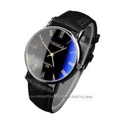 Мужские наручные часы черно-синего цвета ч-3