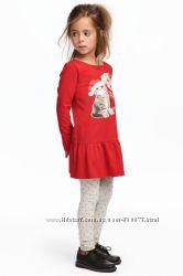 Платья и леггинсы для девочек H&M разные расцветки