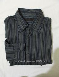 Рубашка стрейчевая полосатая Ermenegildo Zegna 50-54р