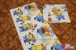Комплект детского постельного белья в кроватку Миньоны, Пони, Тачки, Фиксик