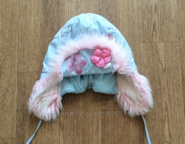 Тёплая зимняя шапка р. 92-98см 50-52