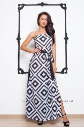 Шикарное, стильное платье- сарафан в пол размер Л46-48