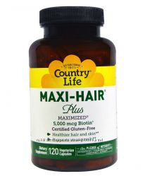 Maxi hair plus, Country Life, 120 шт