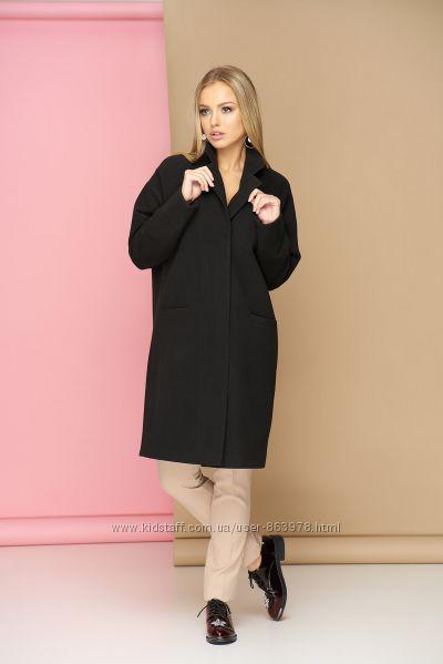 Кашемировое пальто оверсайз A24, р. 42-52