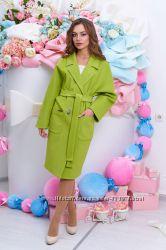Ультрамодное демисезонное пальто-реглан A614, р. 42-50 много цветов
