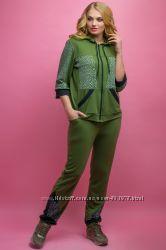 23b22e1c21e9 Стильный женский спортивный костюм большого размера, р. 54-64 распродажа