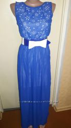 Шифоновое платье-сарафан в пол в греческом стиле, размер S