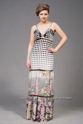 Сарафан платье в пол с цветочным принтом, р. 48 полномерка