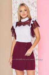03df92a03fb Очаровательная блуза со вставками из гипюра