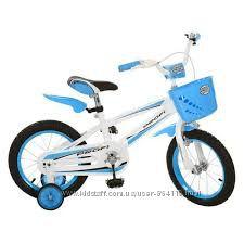 Детский велосипед 16д. 16RB-2 PROFI в Спортивном Стиле, бело-голубой
