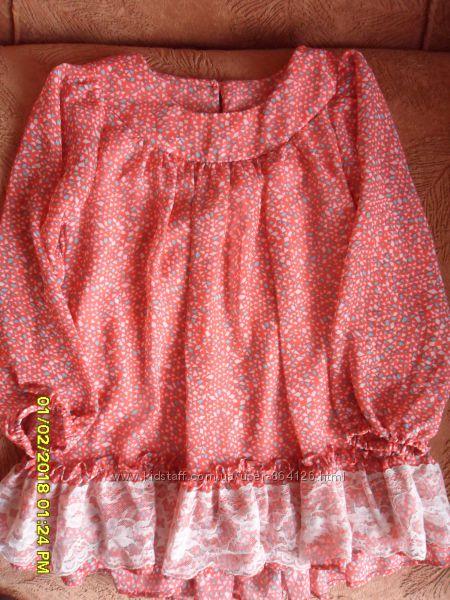 Шифоновая туничка-платье, бу