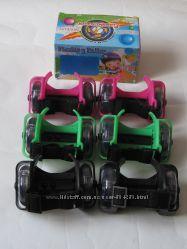 Ролики на пятку Flashing roller, светящиеся колеса