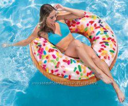 Круг надувной Пончик с присыпкой, Intex 56263, 114 см
