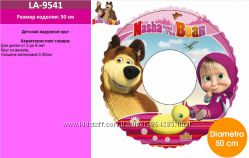 Детский надувной круг Маша и Медведь, 3-6 лет