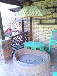 Песочница бассейн со столиком и зонтом STEP2