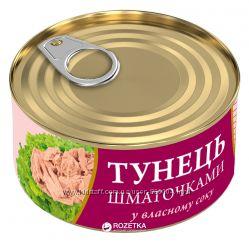 Тунец салатный в собственном соку Fish Line 185г