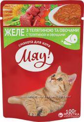 Корм для котов Мяу паучи 100г Ассортимент