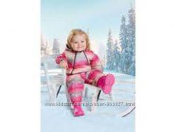 Зимний комбинезон для девочки. Рост 62-68можно до 74.