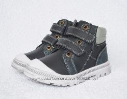 Ботинки ортопедические BI&KI. 26-31р. Кожа, каблук, супинатор, защита носка