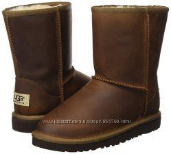 Кожаные сапоги Ugg Kids модель Classic Short Leather Boot, оригинал, р. 2US