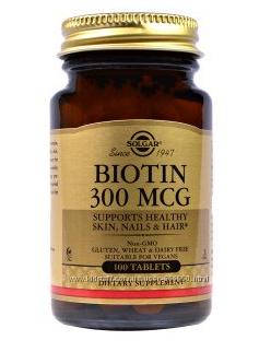 Biotin 300мкг. Solgar. в наличии