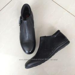 Кожаные ботинки на низком ходу HEAVENLY FEET