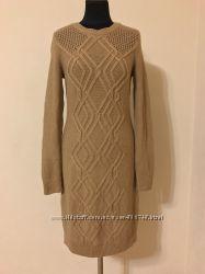 Теплое платье миди tommy hilfiger с косами