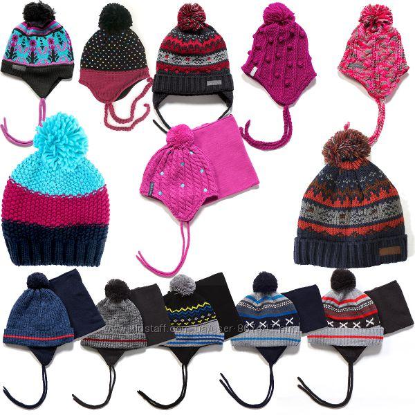 Детские зимние шапки бренд НАНО ПЕЛЮШ Канада от 3 мес до 12 лет ассортимент
