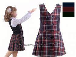 Школьный сарафан в клетку. Школьная форма для девочки пиджак, сарафан, юбка