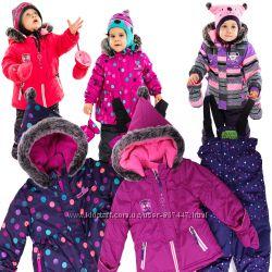 Детские зимние комбинезоны для девочек бренд ПЕЛЮШ НАНО Канада термо до -30