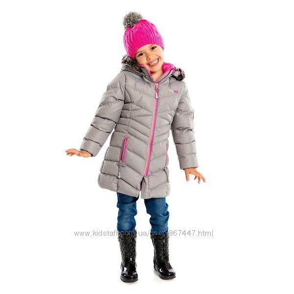 Детское зимнее пальто для девочки бренд НАНО Канада стеганое легкое теплое
