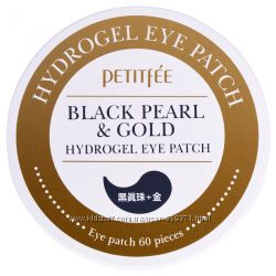 Гидрогелевые патчи для глаз с золотом и черным жемчугом Petitfee black pear