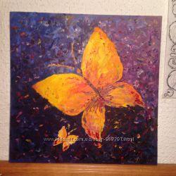 Картина маслом Бабочки во сне- яркая, замечательно подойдет в детскую