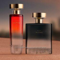 Парфюмерные новинки Парфюмерная вода Avon Alpha для нее и для него Av