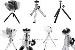 Мини штатив для фотокамер, телефонов D-Lex LXFT-0110 алюминий
