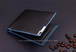Мужской кожаный кошелек портмоне Pidengbao качество Шкіряний гаманець