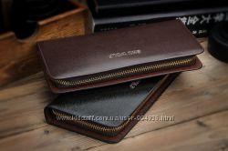 Мужской кожаный качественный клатч SHU WOLF портмоне барсетка кошелек