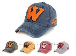 Стильная летняя джинсовая бейсболка с буквой W  Джинсова кепка 2015