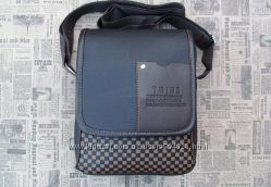 Небольшая мужская сумка мессенджер через плечо на каждый день TWINS