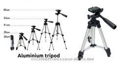 Алюминиевый мини штатив с уровнем трипод под фотоапарат камеру 65 см.