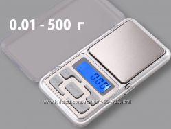 Ювелирные лабораторные электронные весы 0, 01-500 Вага ювелірна кармана