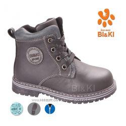 Ботинки Biki для мальчиков Кожа black р.25-30
