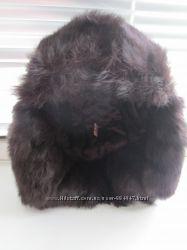 шапка с натуральным мехом кролика