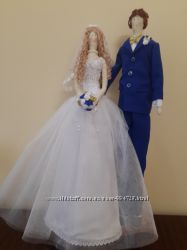Кукла текстильная-тильда Жених и невеста